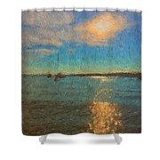 Ocean Sun Path At Boothbay Harbor Shower Curtain