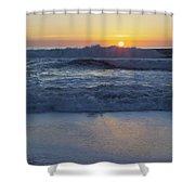 Ocean Wave Kisses The Sun Shower Curtain