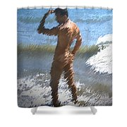Ocean Thoughts Shower Curtain by Kurt Van Wagner