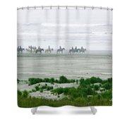 Ocean Trail Ride Shower Curtain