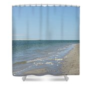 Ocean View From The Beach In Chatham Shower Curtain