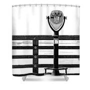 Ocean Viewer Shower Curtain