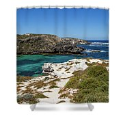 Ocean Water And Rocks Shower Curtain