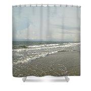 Ocean Waves At Sunrise Shower Curtain
