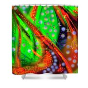 Oceanic Abstract Painting Shower Curtain
