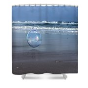 Oceanic Sphere  Shower Curtain
