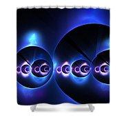 Oceanic Spheres Shower Curtain
