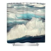 Oceans Blue Shower Curtain by Mark Taylor