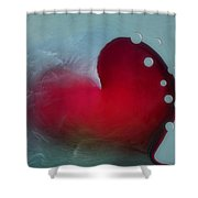 Oceans Heart Shower Curtain