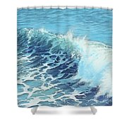 Ocean's Might Shower Curtain