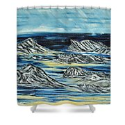 Oceans Of Worlds Shower Curtain