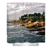 Oceanside - Depoe Bay Shower Curtain