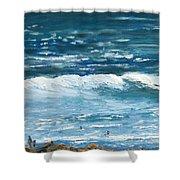 Oceanside 3 O'clock Shower Curtain