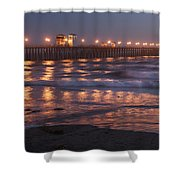 Oceanside Pier In The Mist Shower Curtain