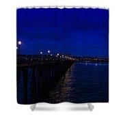 Oceanside Pier Night Image Shower Curtain