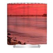 Oceanside Pier Sunset 4 Shower Curtain