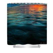 Oceanside Reflective Sunset Shower Curtain