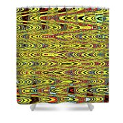 Oceanside Sea Lions On The Dock Abstract #9a Shower Curtain