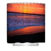 Oceanside Sunset Shower Curtain