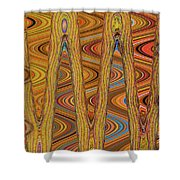 Oceanside Surfer Abstract. Shower Curtain