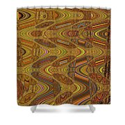 Oceanside Surfer Abstract.#2 Shower Curtain
