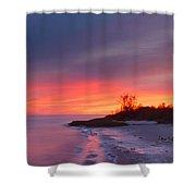 Ochlockonee Bay Sunrise Shower Curtain