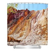 Ochre Pits Colours, West Mcdonald Ranges Shower Curtain