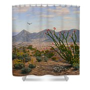 Ocotillo Paradise Shower Curtain