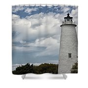 Ocracoke Island Lighthouse Shower Curtain