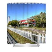 Ocracoke Lighthouse, Ocracoke Island, Nc Shower Curtain