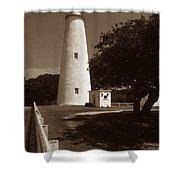 Ocracoke Lighthouse Shower Curtain