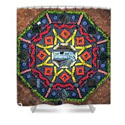 Octagon Shower Curtain by James Billings