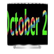 October 29 Shower Curtain