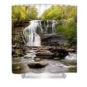 October At Bald River Falls Shower Curtain