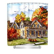 October At The Farm Shower Curtain