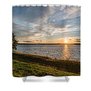 October Awe Shower Curtain
