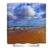 October Beach Shower Curtain