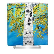 October Birch Shower Curtain