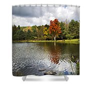 October Brisk Waterscape Shower Curtain