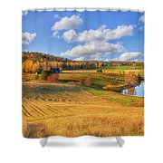 October Countryside 3 Shower Curtain