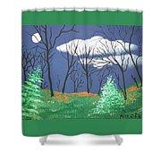 October Evening Shower Curtain