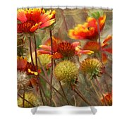 October Flowers 2 Shower Curtain
