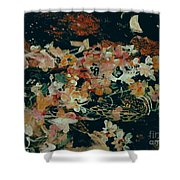October Flowers By Night Shower Curtain