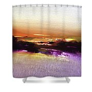 October Golds Shower Curtain