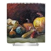 October Harvest Shower Curtain