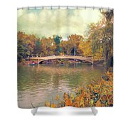 October In Central Park Shower Curtain