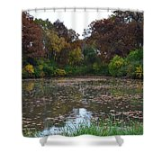 October Leaves Shower Curtain