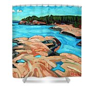 October Morning At Red Rock Bay Shower Curtain