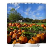 October Postcard  Shower Curtain