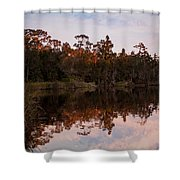 October Reflections On The River Shower Curtain